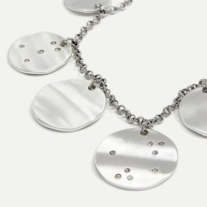 NWT silver chain necklace with medallions